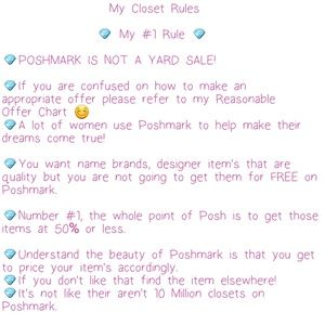 Other - 💎My Closet Rules💎